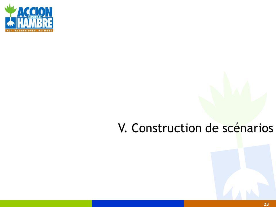 V. Construction de scénarios