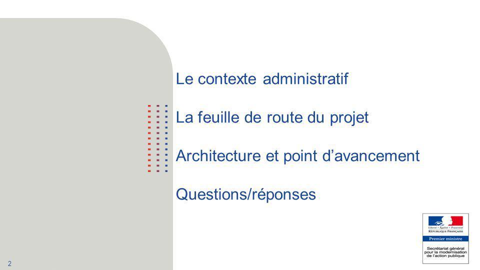 Le contexte administratif