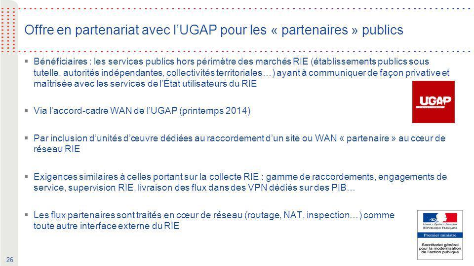 Offre en partenariat avec l'UGAP pour les « partenaires » publics