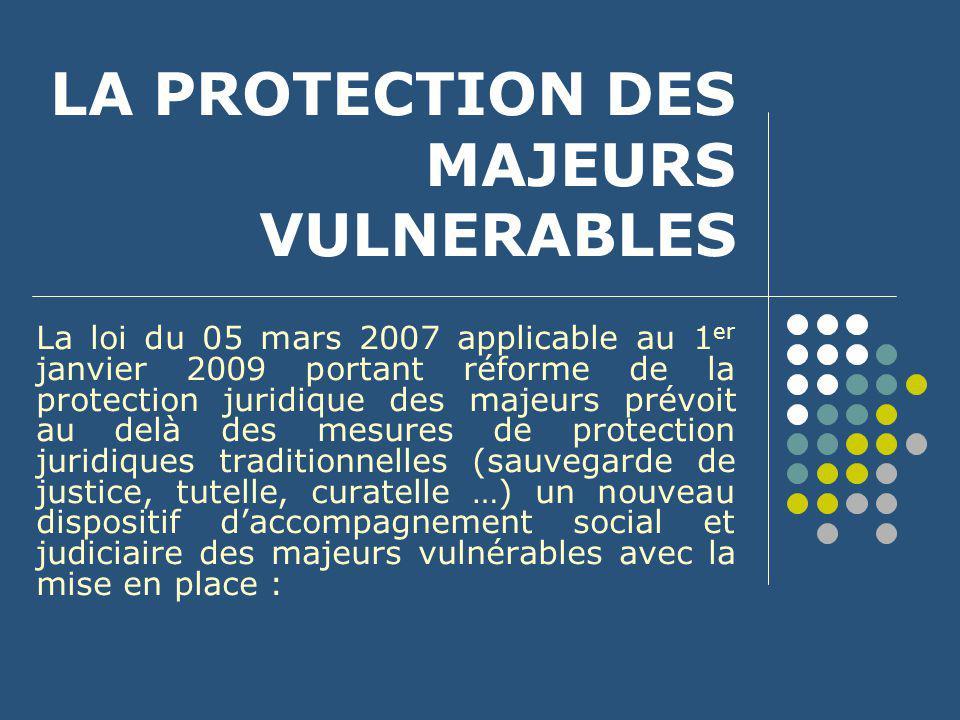 LA PROTECTION DES MAJEURS VULNERABLES