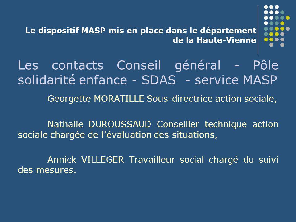 Le dispositif MASP mis en place dans le département de la Haute-Vienne