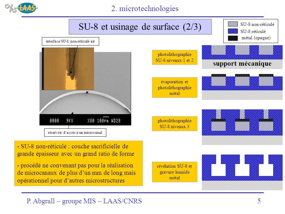 SU-8 et usinage de surface (2/3)