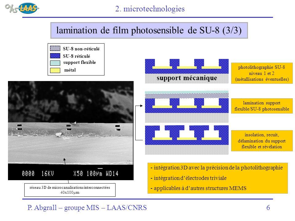 lamination de film photosensible de SU-8 (3/3)