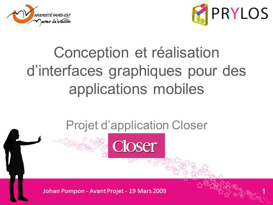 Projet d'application Closer