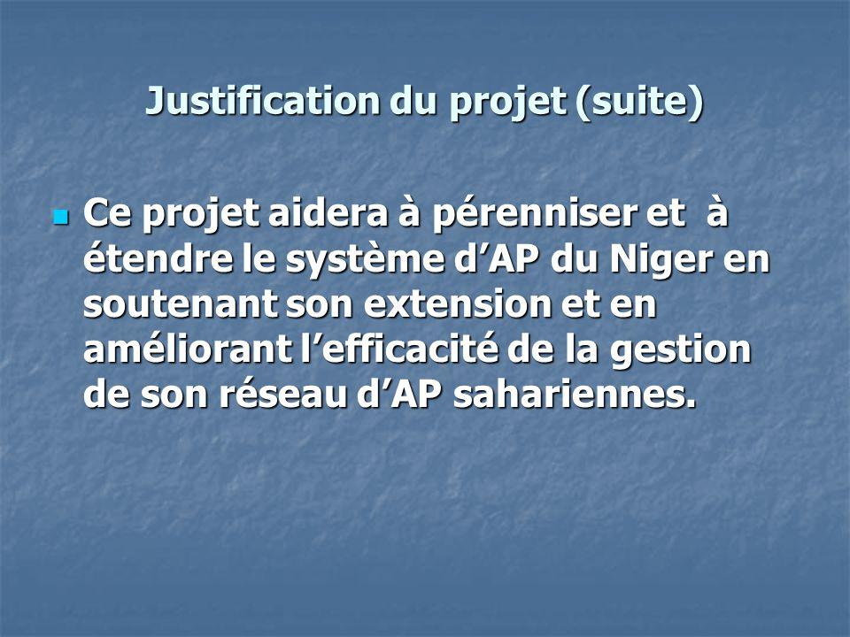 Justification du projet (suite)