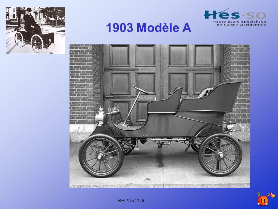 1903 Modèle A HB/ Mai 2005