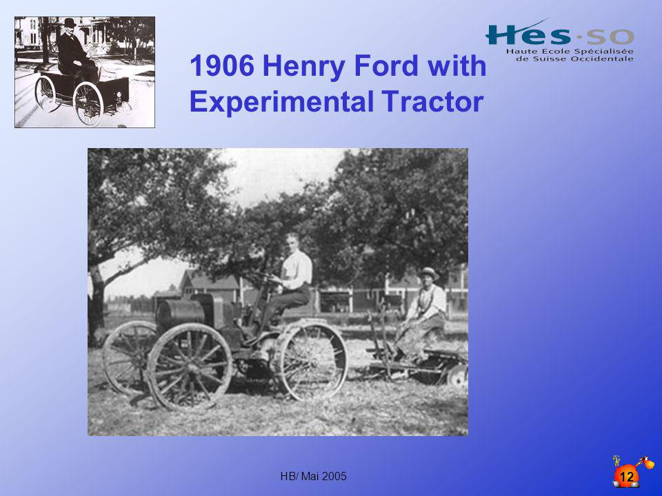 1906 Henry Ford with Experimental Tractor