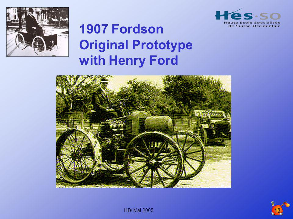 1907 Fordson Original Prototype with Henry Ford