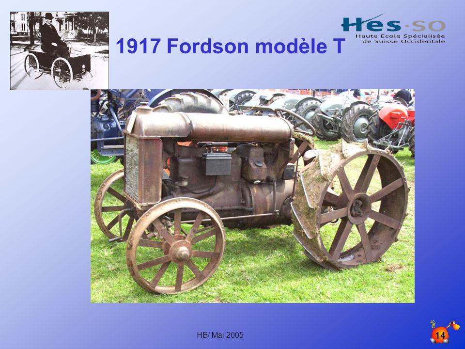 1917 Fordson modèle T HB/ Mai 2005