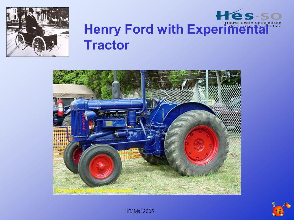 Henry Ford with Experimental Tractor