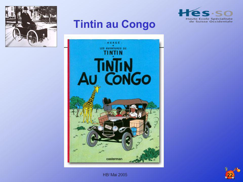 Tintin au Congo HB/ Mai 2005