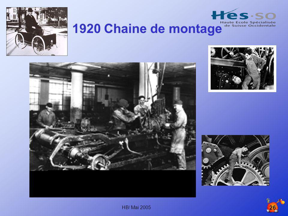 1920 Chaine de montage HB/ Mai 2005