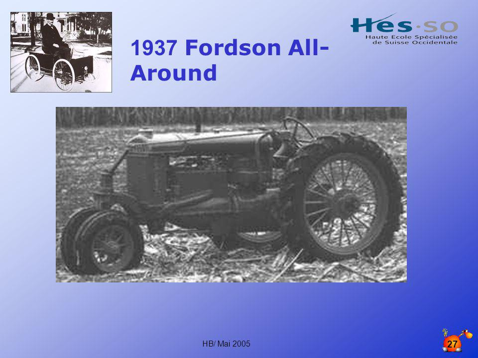 1937 Fordson All-Around HB/ Mai 2005