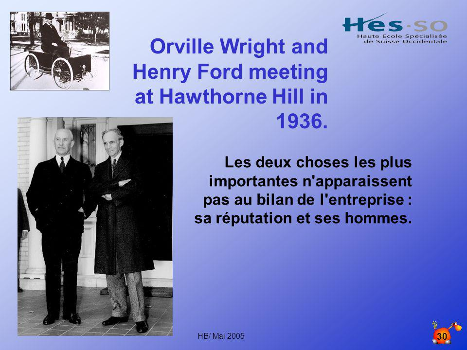 Orville Wright and Henry Ford meeting at Hawthorne Hill in 1936.