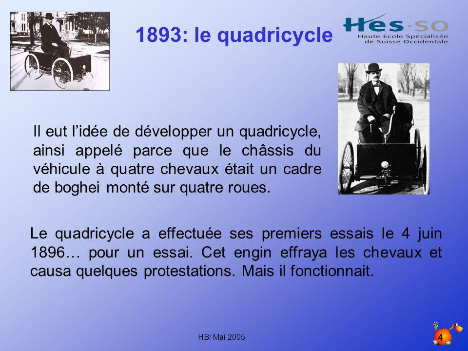 1893: le quadricycle