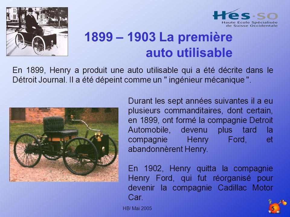 1899 – 1903 La première auto utilisable
