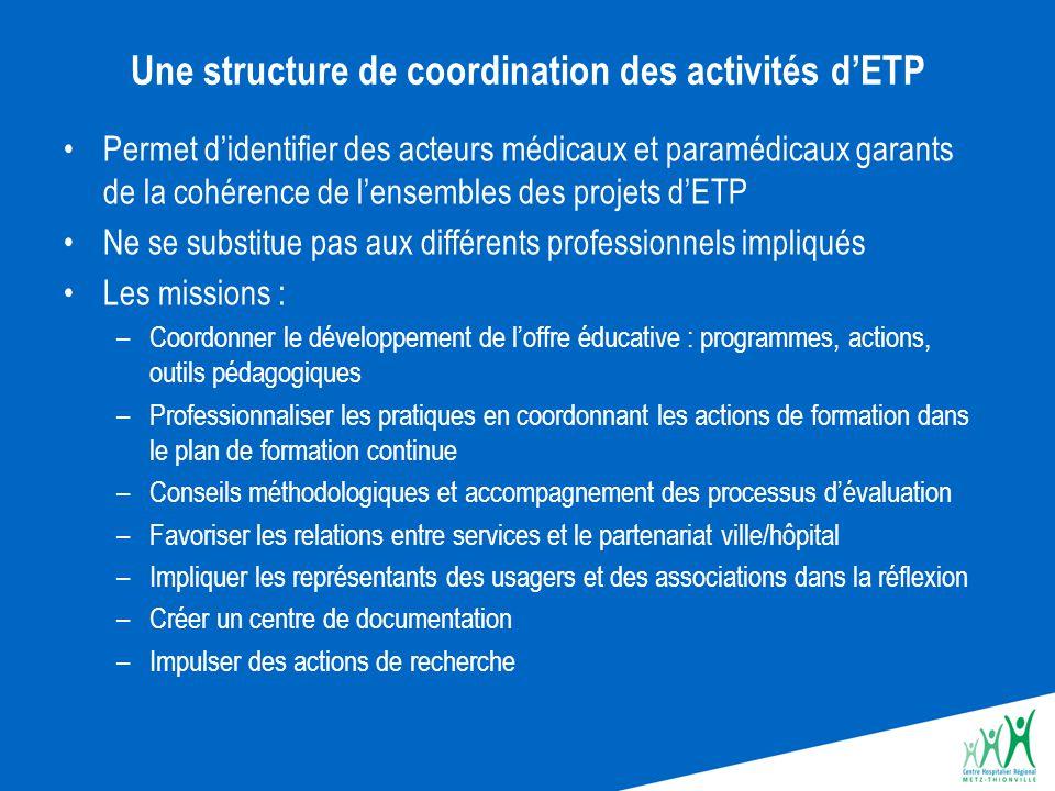 Une structure de coordination des activités d'ETP