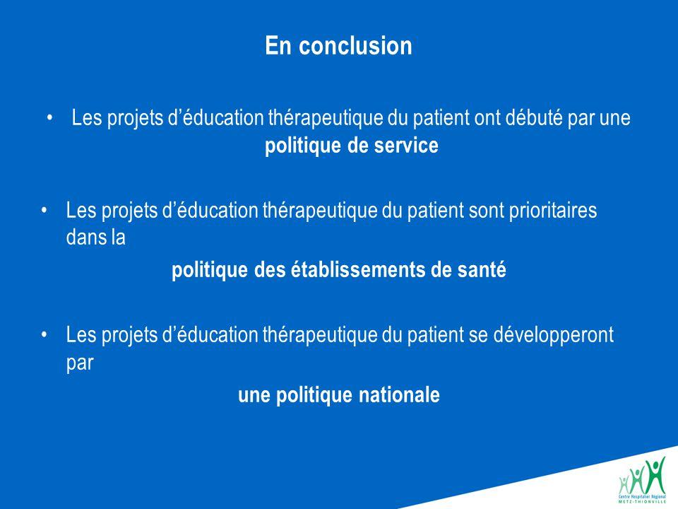 politique des établissements de santé