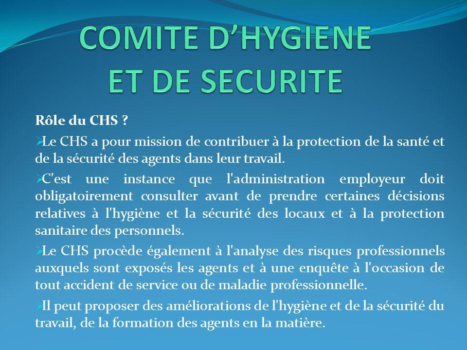 COMITE D'HYGIENE ET DE SECURITE