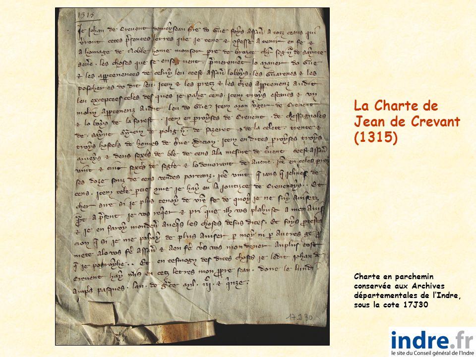 La Charte de Jean de Crevant (1315)