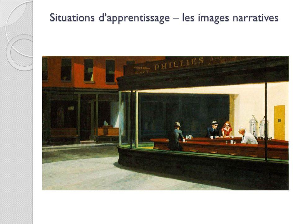 Situations d'apprentissage – les images narratives