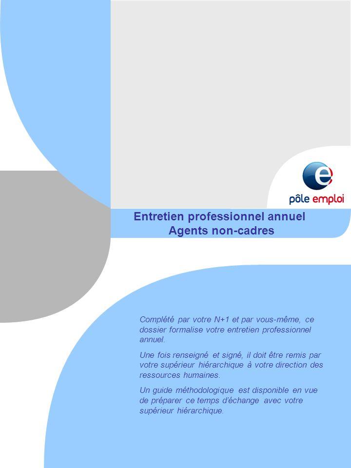 Entretien professionnel annuel Agents non-cadres