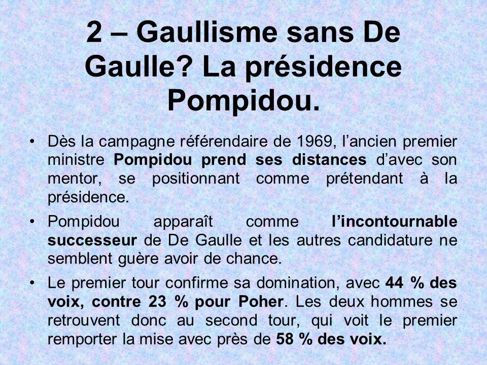 2 – Gaullisme sans De Gaulle La présidence Pompidou.