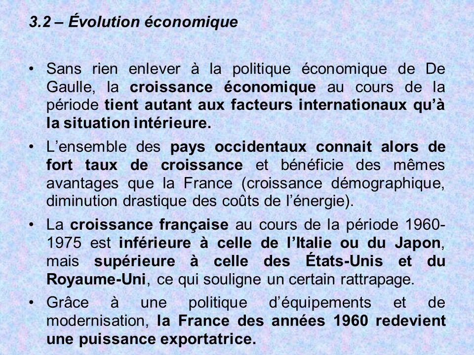 3.2 – Évolution économique