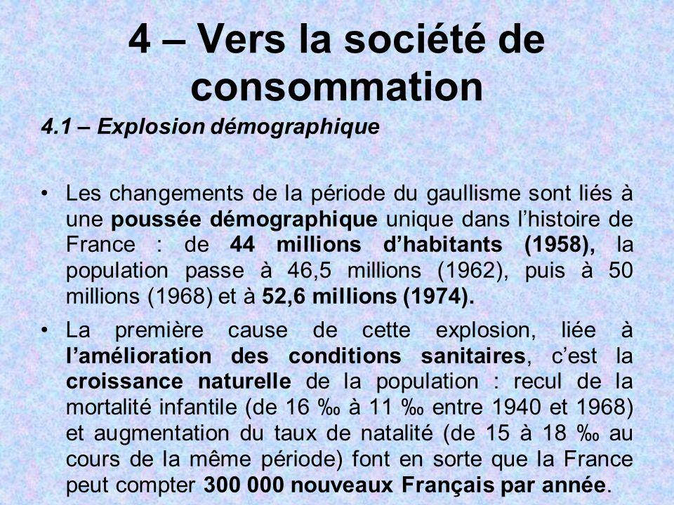 4 – Vers la société de consommation