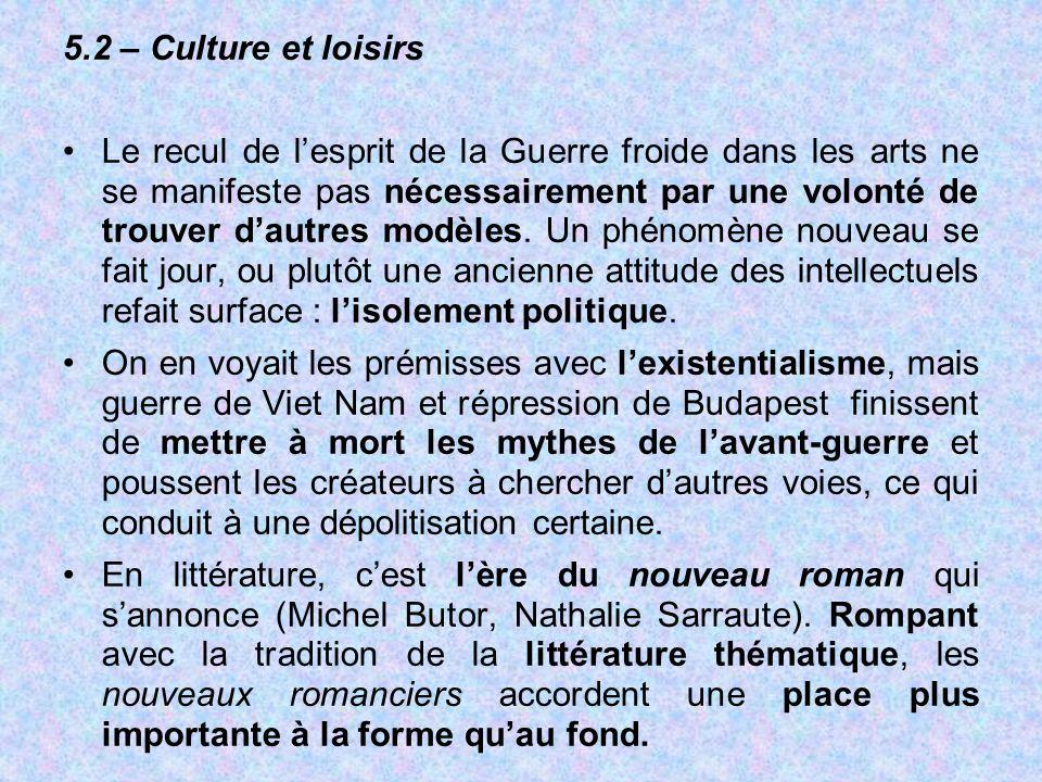 5.2 – Culture et loisirs