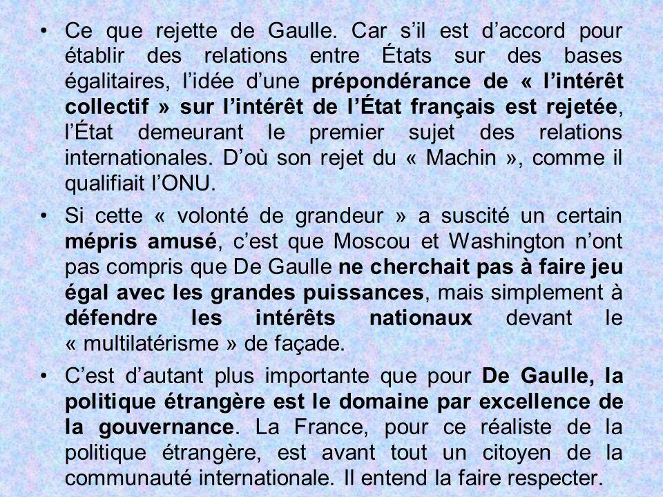 Ce que rejette de Gaulle