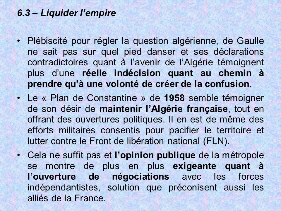 6.3 – Liquider l'empire