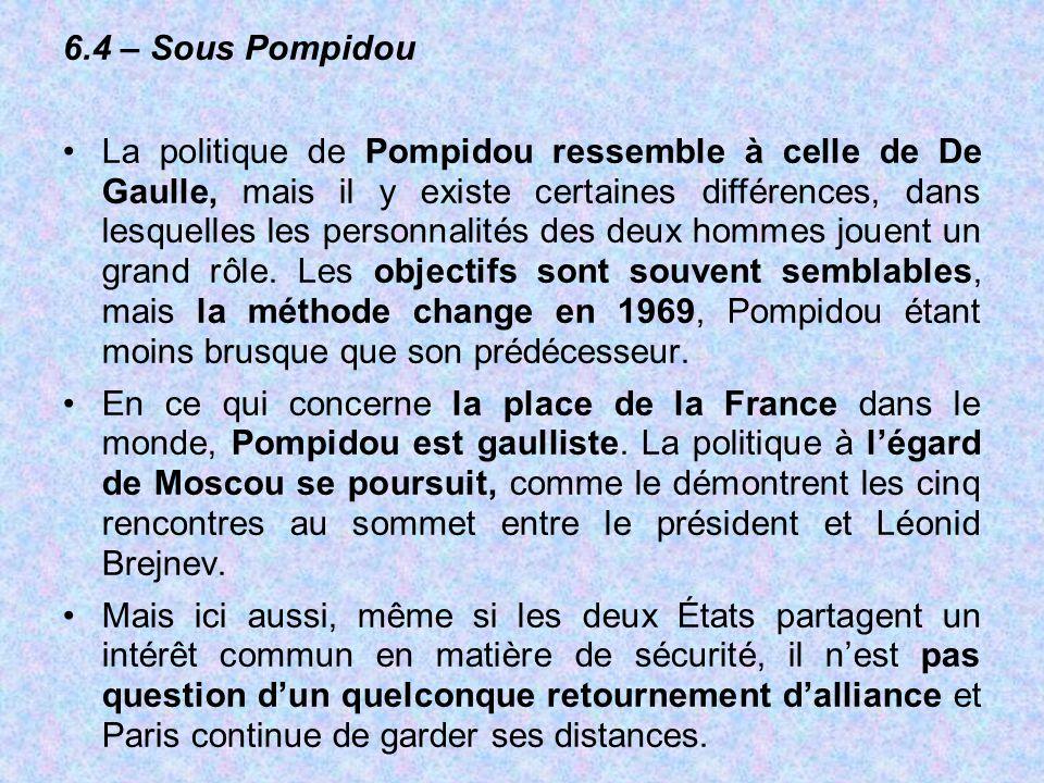 6.4 – Sous Pompidou