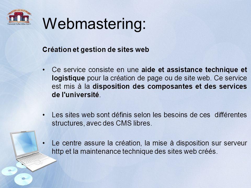 Webmastering: Création et gestion de sites web