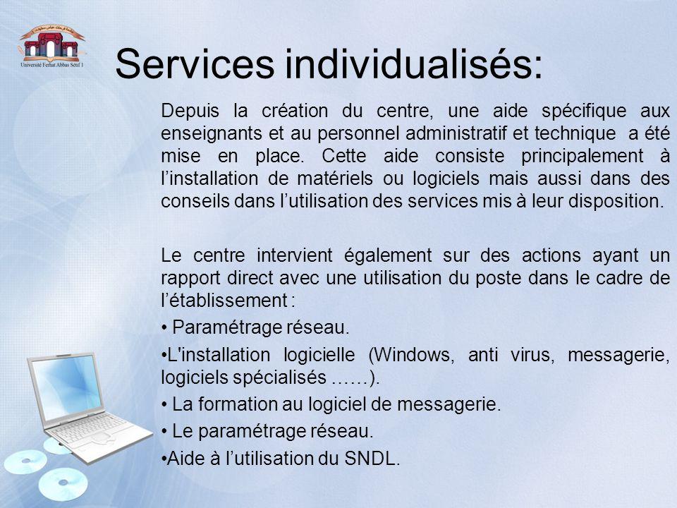 Services individualisés: