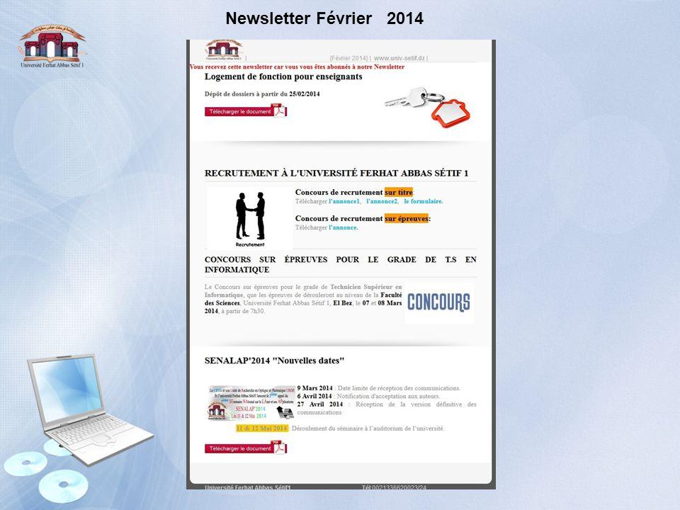 Newsletter Février 2014
