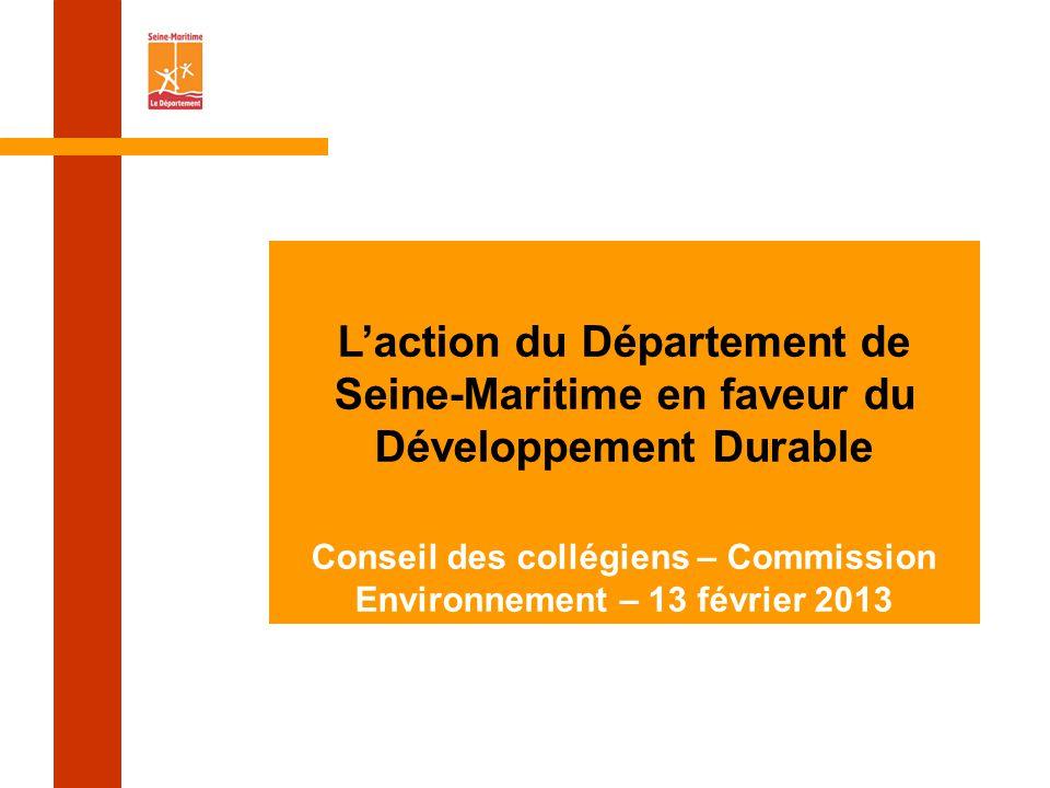 Conseil des collégiens – Commission Environnement – 13 février 2013