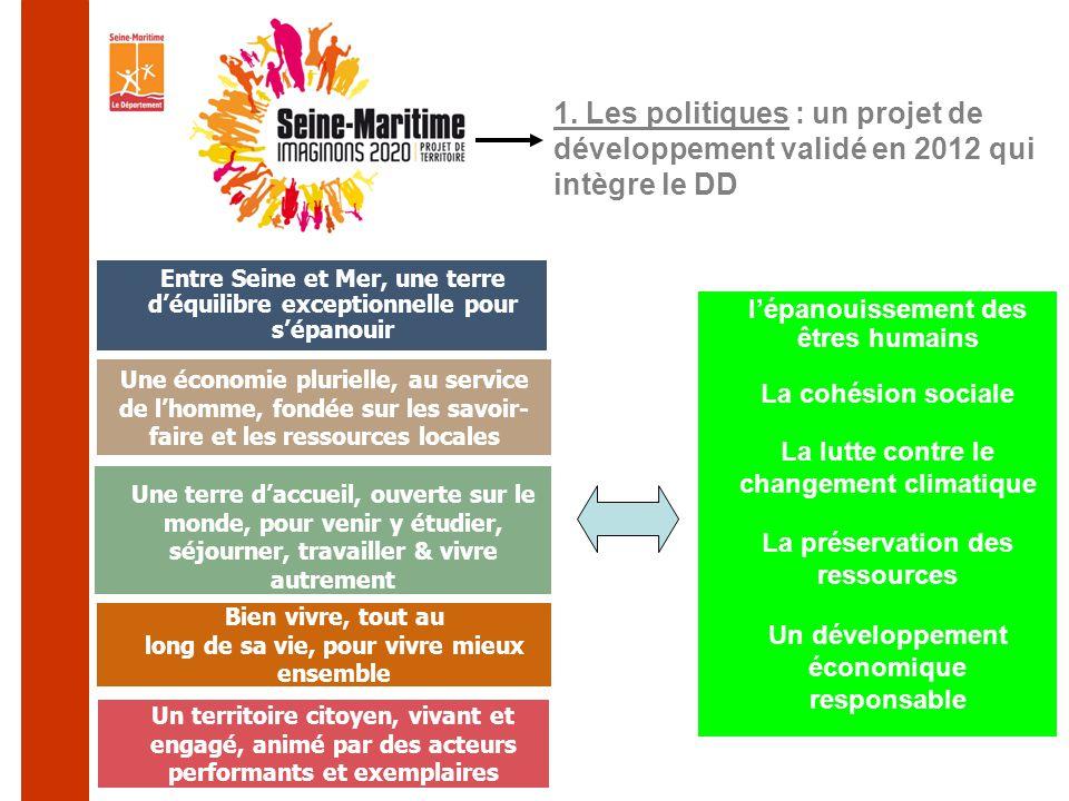 1. Les politiques : un projet de développement validé en 2012 qui intègre le DD