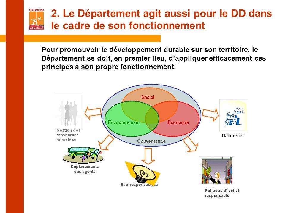 2. Le Département agit aussi pour le DD dans le cadre de son fonctionnement