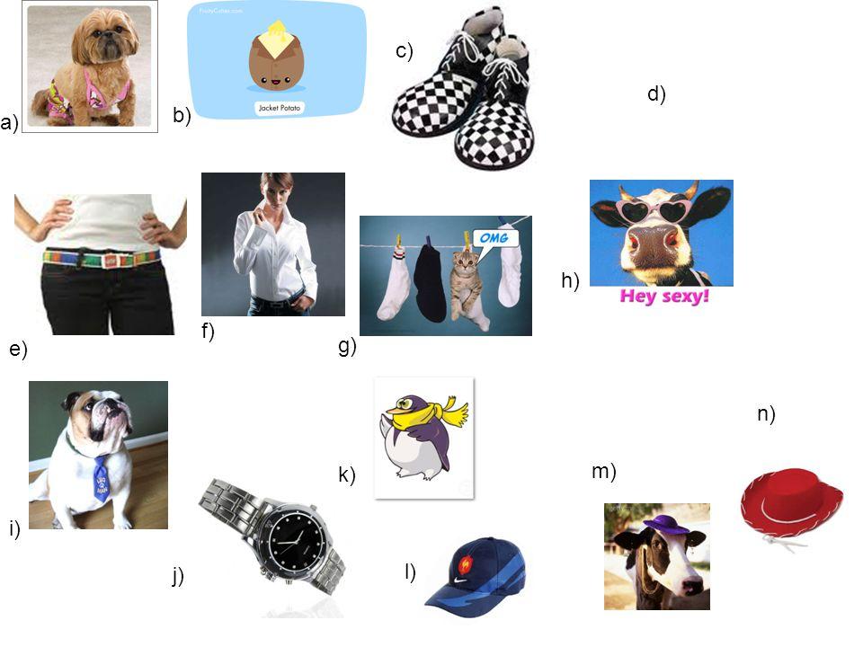 c) d) b) a) h) f) e) g) n) k) m) i) j) l)