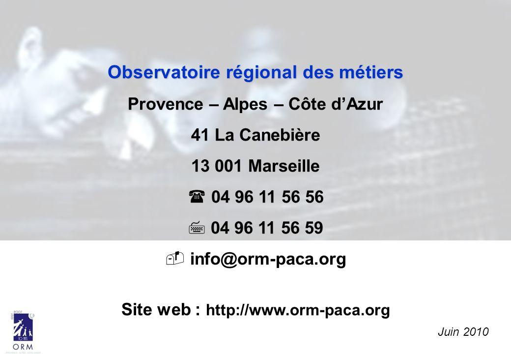 Observatoire régional des métiers