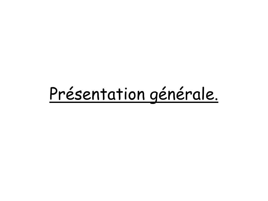Présentation générale.