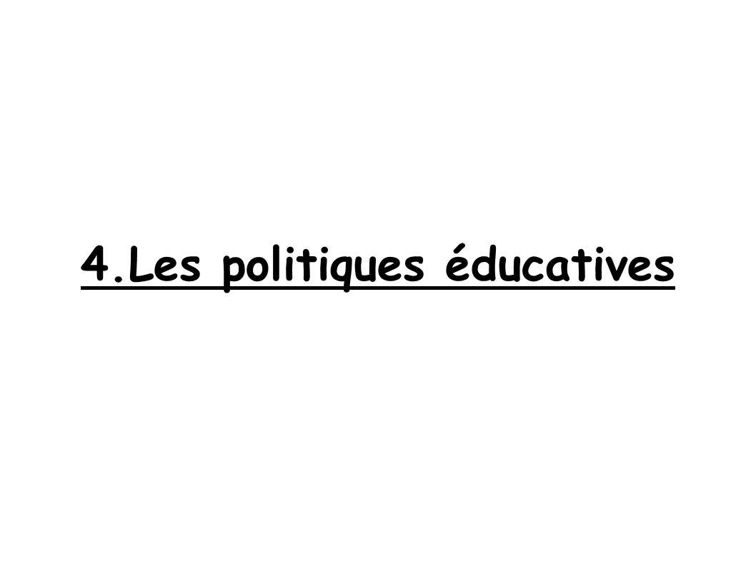 4.Les politiques éducatives