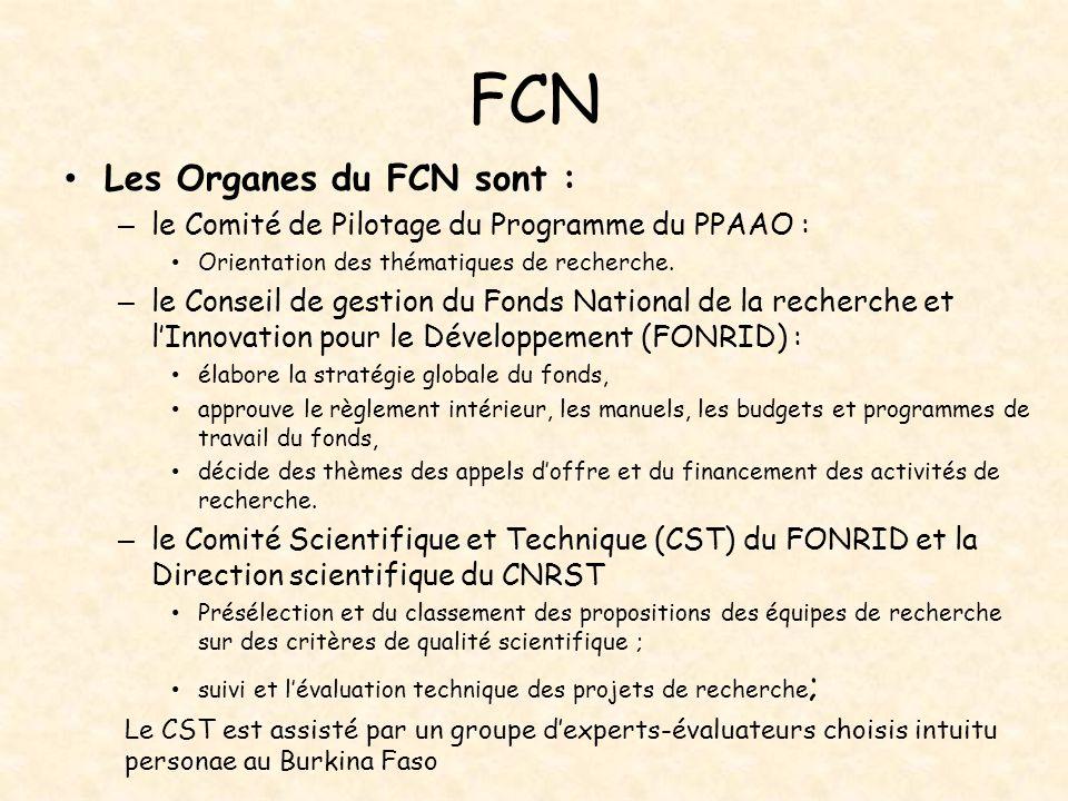 FCN Les Organes du FCN sont :