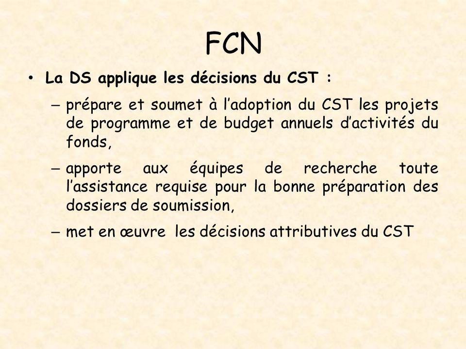 FCN La DS applique les décisions du CST :