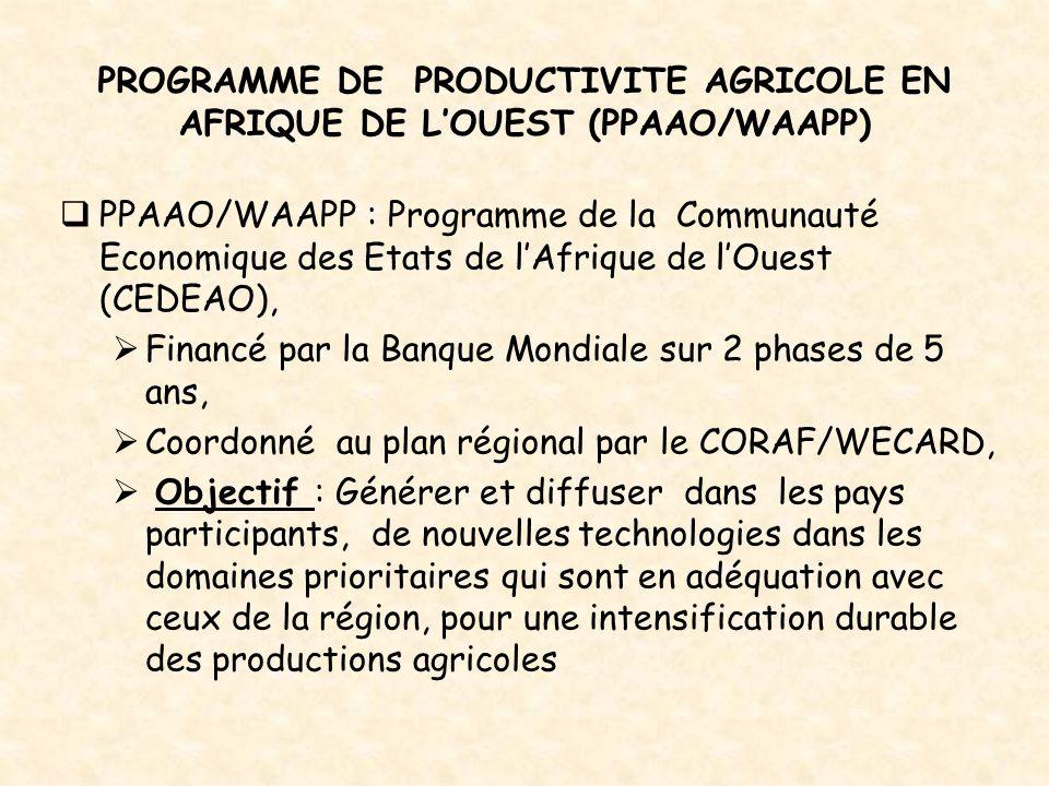 PROGRAMME DE PRODUCTIVITE AGRICOLE EN AFRIQUE DE L'OUEST (PPAAO/WAAPP)