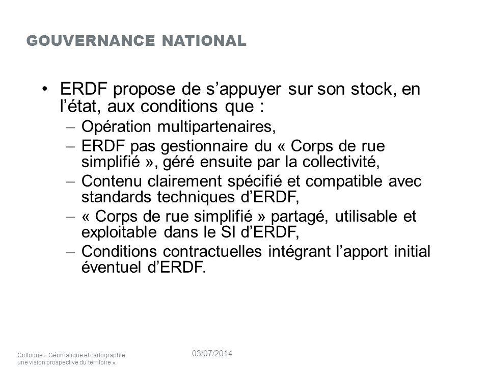gouvernance national ERDF propose de s'appuyer sur son stock, en l'état, aux conditions que : Opération multipartenaires,