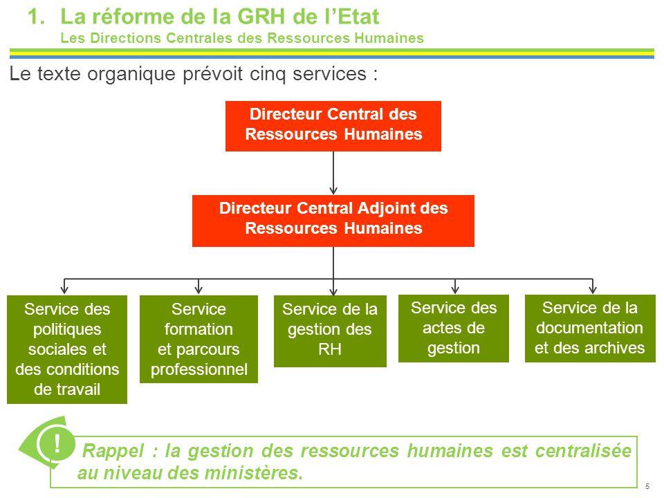 ! La réforme de la GRH de l'Etat