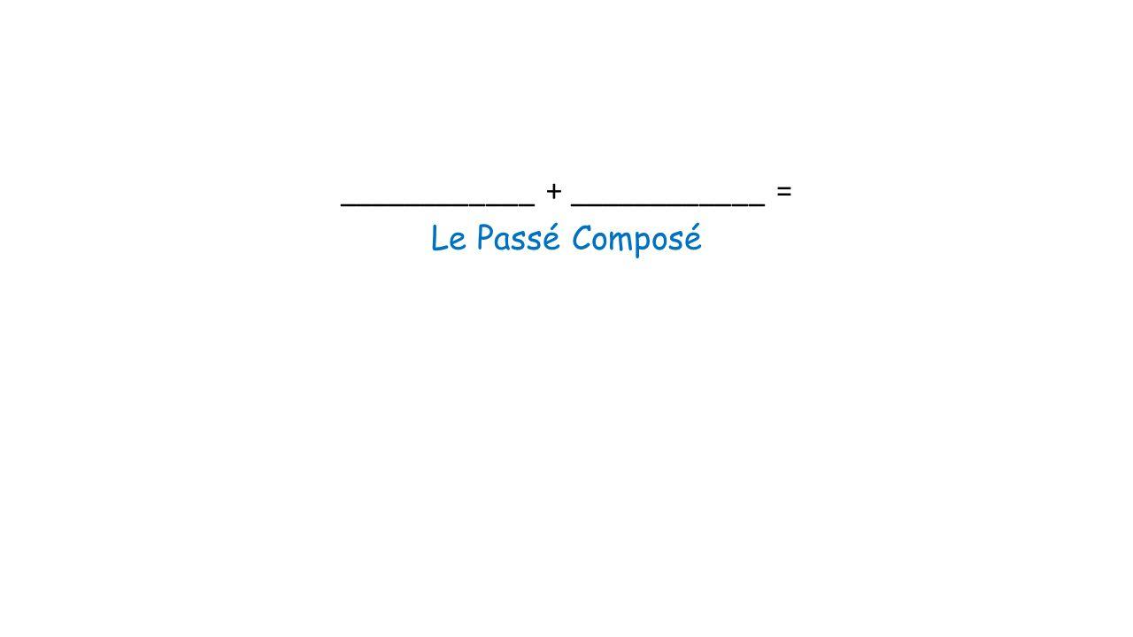 ____________ + ____________ = Le Passé Composé