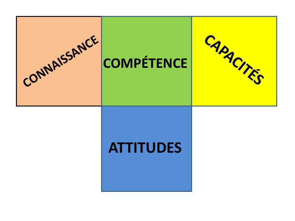CAPACITÉS CONNAISSANCE COMPÉTENCE ATTITUDES